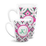 Linked Circles & Diamonds Latte Mug (Personalized)