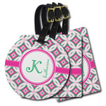 Linked Circles & Diamonds Plastic Luggage Tags (Personalized)