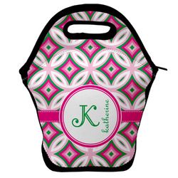 Linked Circles & Diamonds Lunch Bag w/ Name and Initial