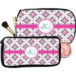 Linked Circles & Diamonds Makeup / Cosmetic Bag (Personalized)