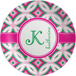 Linked Circles & Diamonds Melamine Plate (Personalized)