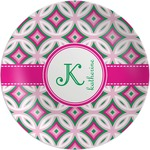 Linked Circles & Diamonds Melamine Plate (Personalized)
