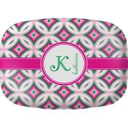 Linked Circles & Diamonds Melamine Platter (Personalized)