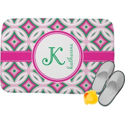 Linked Circles & Diamonds Memory Foam Bath Mat (Personalized)