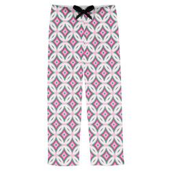 Linked Circles & Diamonds Mens Pajama Pants (Personalized)