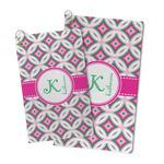 Linked Circles & Diamonds Microfiber Golf Towel (Personalized)