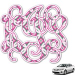Linked Circles & Diamonds Monogram Car Decal (Personalized)