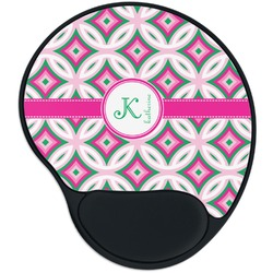Linked Circles & Diamonds Mouse Pad with Wrist Support