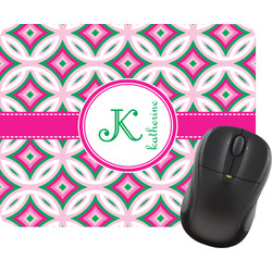 Linked Circles & Diamonds Mouse Pad (Personalized)