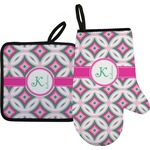 Linked Circles & Diamonds Oven Mitt & Pot Holder (Personalized)