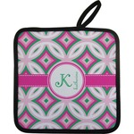 Linked Circles & Diamonds Pot Holder (Personalized)