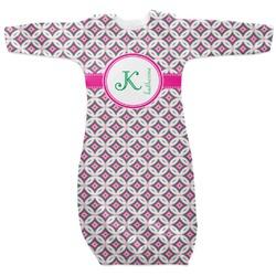 Linked Circles & Diamonds Newborn Gown (Personalized)