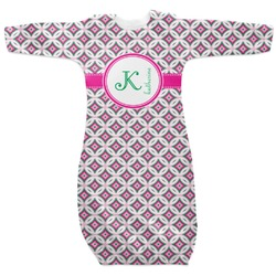 Linked Circles & Diamonds Newborn Gown - 3-6 (Personalized)