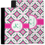 Linked Circles & Diamonds Notebook Padfolio w/ Name and Initial
