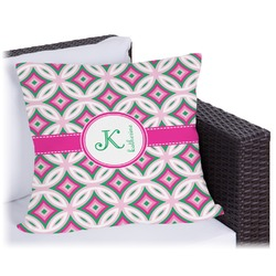 Linked Circles & Diamonds Outdoor Pillow (Personalized)