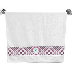 Linked Circles & Diamonds Bath Towel (Personalized)