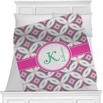Linked Circles & Diamonds Minky Blanket (Personalized)