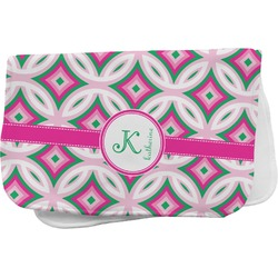 Linked Circles & Diamonds Burp Cloth (Personalized)