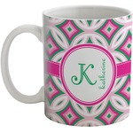 Linked Circles & Diamonds Coffee Mug (Personalized)