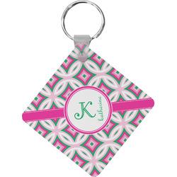 Linked Circles & Diamonds Diamond Key Chain (Personalized)