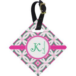 Linked Circles & Diamonds Diamond Luggage Tag (Personalized)