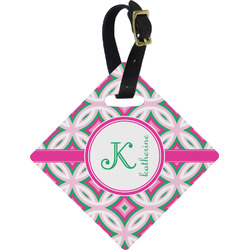 Linked Circles & Diamonds Diamond Luggage Tag (Personalized)