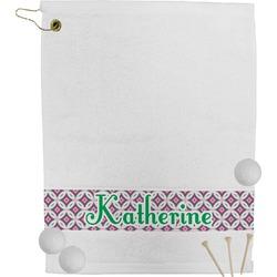 Linked Circles & Diamonds Golf Bag Towel (Personalized)