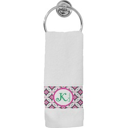 Linked Circles & Diamonds Hand Towel (Personalized)