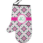 Linked Circles & Diamonds Left Oven Mitt (Personalized)