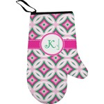 Linked Circles & Diamonds Right Oven Mitt (Personalized)