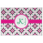 Linked Circles & Diamonds Laminated Placemat w/ Name and Initial
