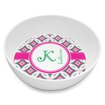 Linked Circles & Diamonds Melamine Bowl 8oz (Personalized)