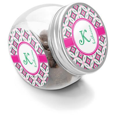 Linked Circles & Diamonds Puppy Treat Jar (Personalized)