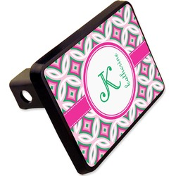 "Linked Circles & Diamonds Rectangular Trailer Hitch Cover - 2"" (Personalized)"