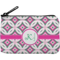 Linked Circles & Diamonds Rectangular Coin Purse (Personalized)