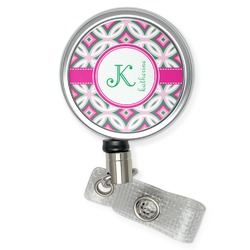 Linked Circles & Diamonds Retractable Badge Reel (Personalized)