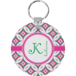 Linked Circles & Diamonds Keychains - FRP (Personalized)