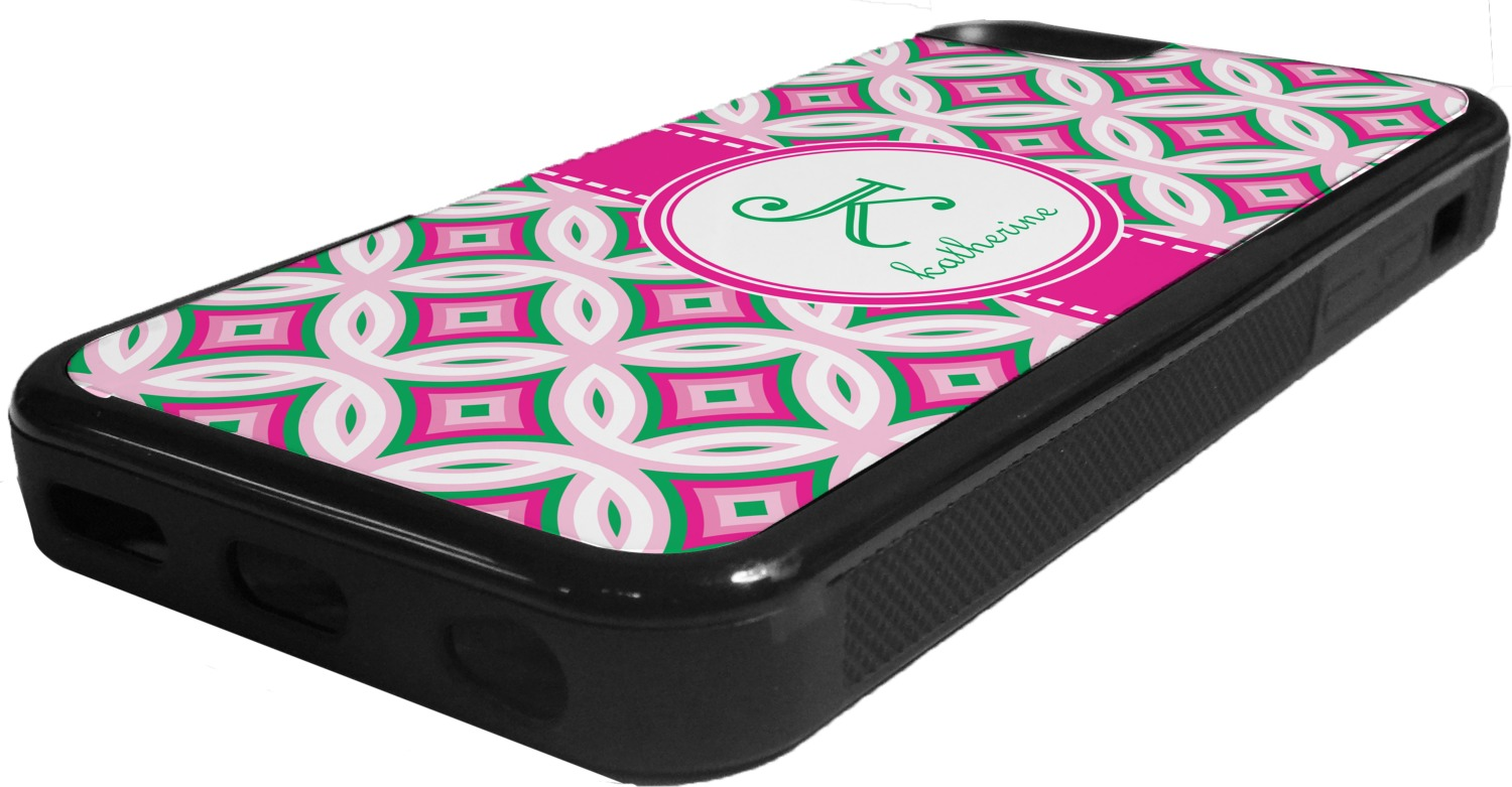 iphone 5c custom case linked circles amp diamonds rubber iphone 5c phone 3105