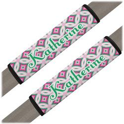 Linked Circles & Diamonds Seat Belt Covers (Set of 2) (Personalized)