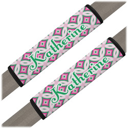 Linked Circles & Diamonds Seat Belt Covers (Set of 2) (Personalized)