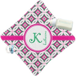 Linked Circles & Diamonds Security Blanket (Personalized)