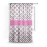 Linked Circles & Diamonds Sheer Curtains (Personalized)