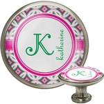 Linked Circles & Diamonds Cabinet Knob (Silver) (Personalized)