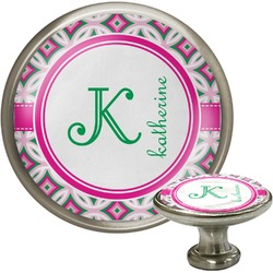 Linked Circles & Diamonds Cabinet Knobs (Personalized)