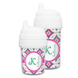 Linked Circles & Diamonds Sippy Cup (Personalized)