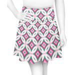 Linked Circles & Diamonds Skater Skirt (Personalized)