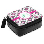 Linked Circles & Diamonds Small Leatherette Travel Pill Case (Personalized)