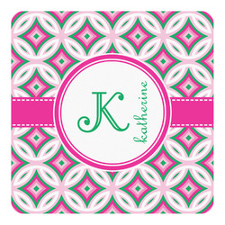 Linked Circles & Diamonds Square Decal - Custom Size (Personalized)