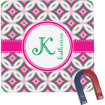 Linked Circles & Diamonds Square Fridge Magnet (Personalized)