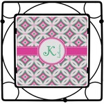Linked Circles & Diamonds Square Trivet (Personalized)
